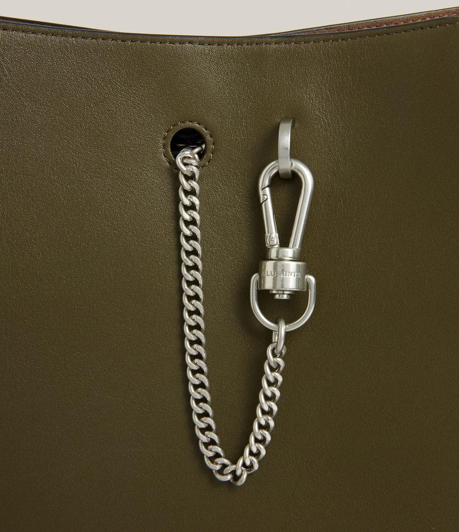 Women's Beaumont Leather Hobo Bag (dusky_khaki) - Image 6