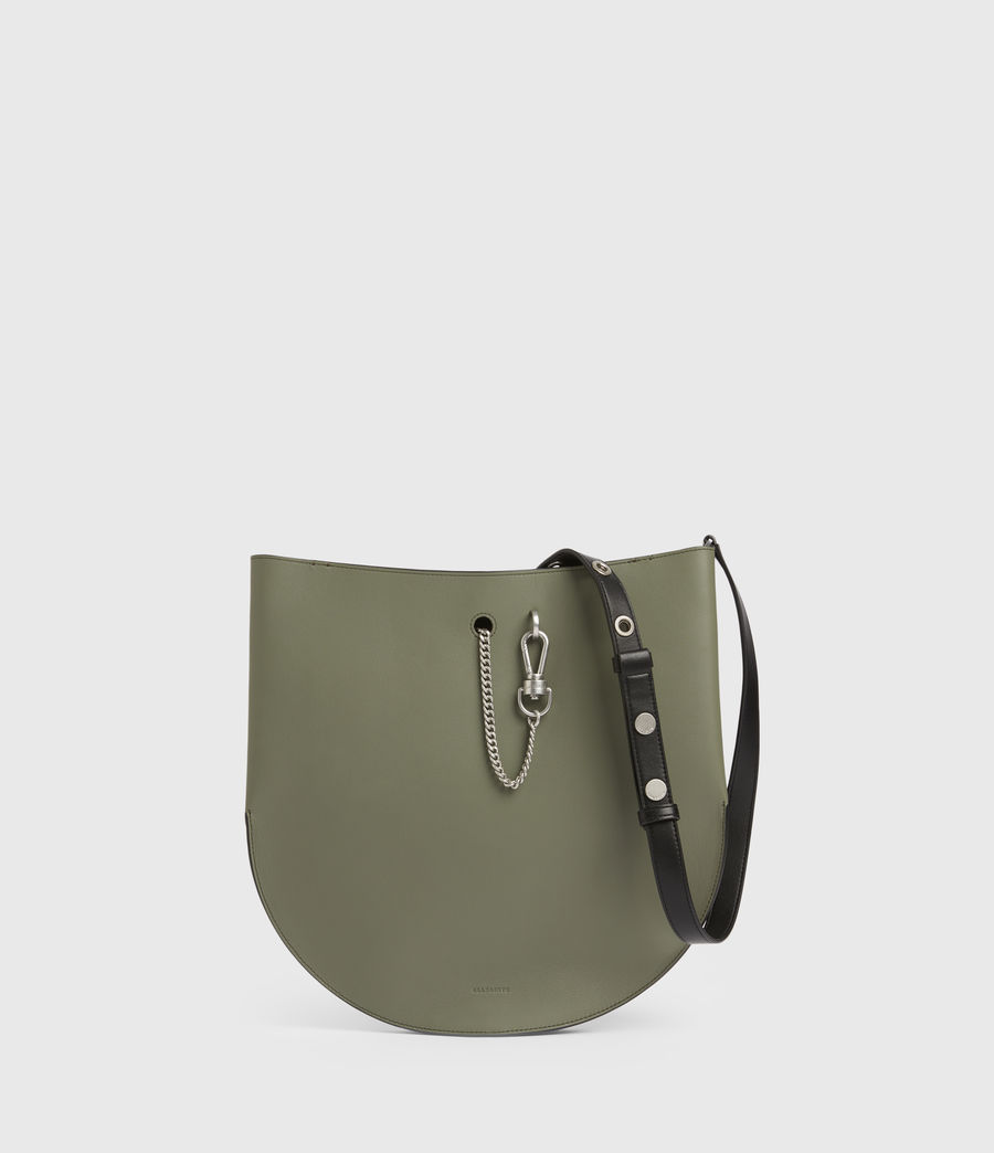 Womens Beaumont Leather Hobo Bag (sage_green) - Image 1