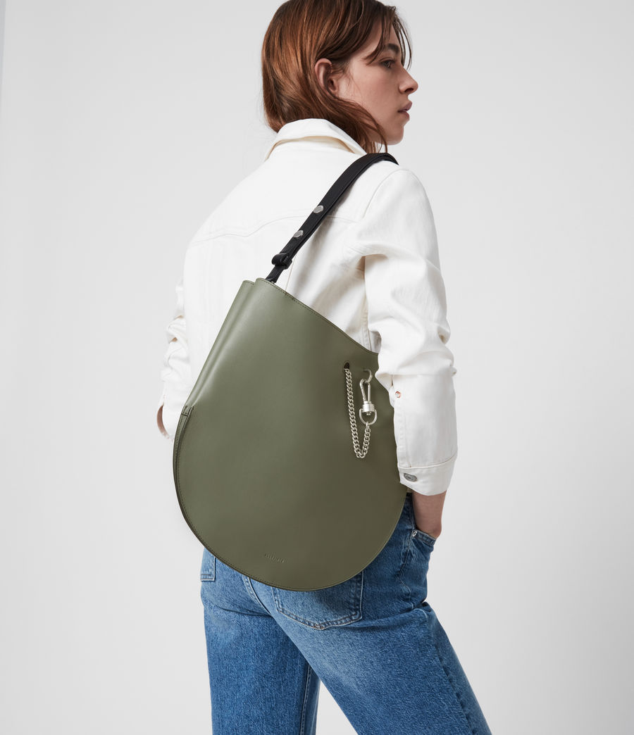 Womens Beaumont Leather Hobo Bag (sage_green) - Image 2