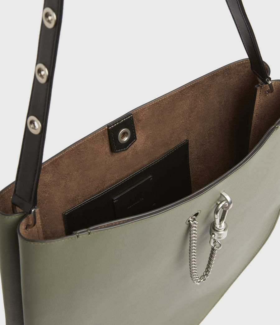 Womens Beaumont Leather Hobo Bag (sage_green) - Image 3
