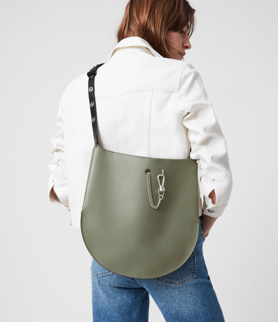 Womens Beaumont Leather Hobo Bag (sage_green) - Image 4