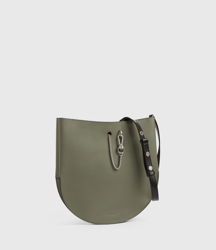 Womens Beaumont Leather Hobo Bag (sage_green) - Image 5