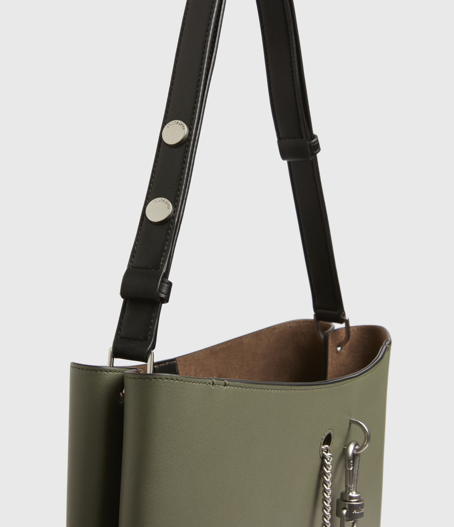 Womens Beaumont Leather Hobo Bag (sage_green) - Image 7