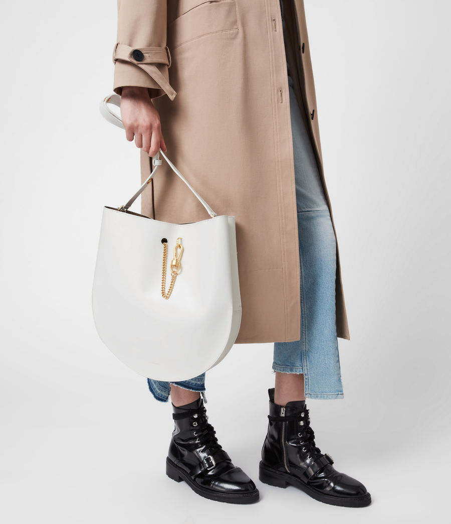 Womens Beaumont Leather Hobo Bag (roe_white) - Image 1