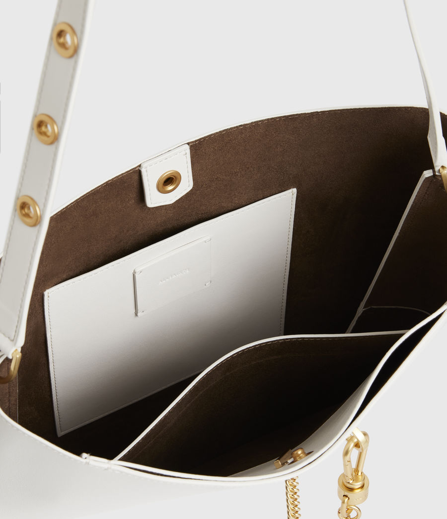 Womens Beaumont Leather Hobo Bag (roe_white) - Image 3