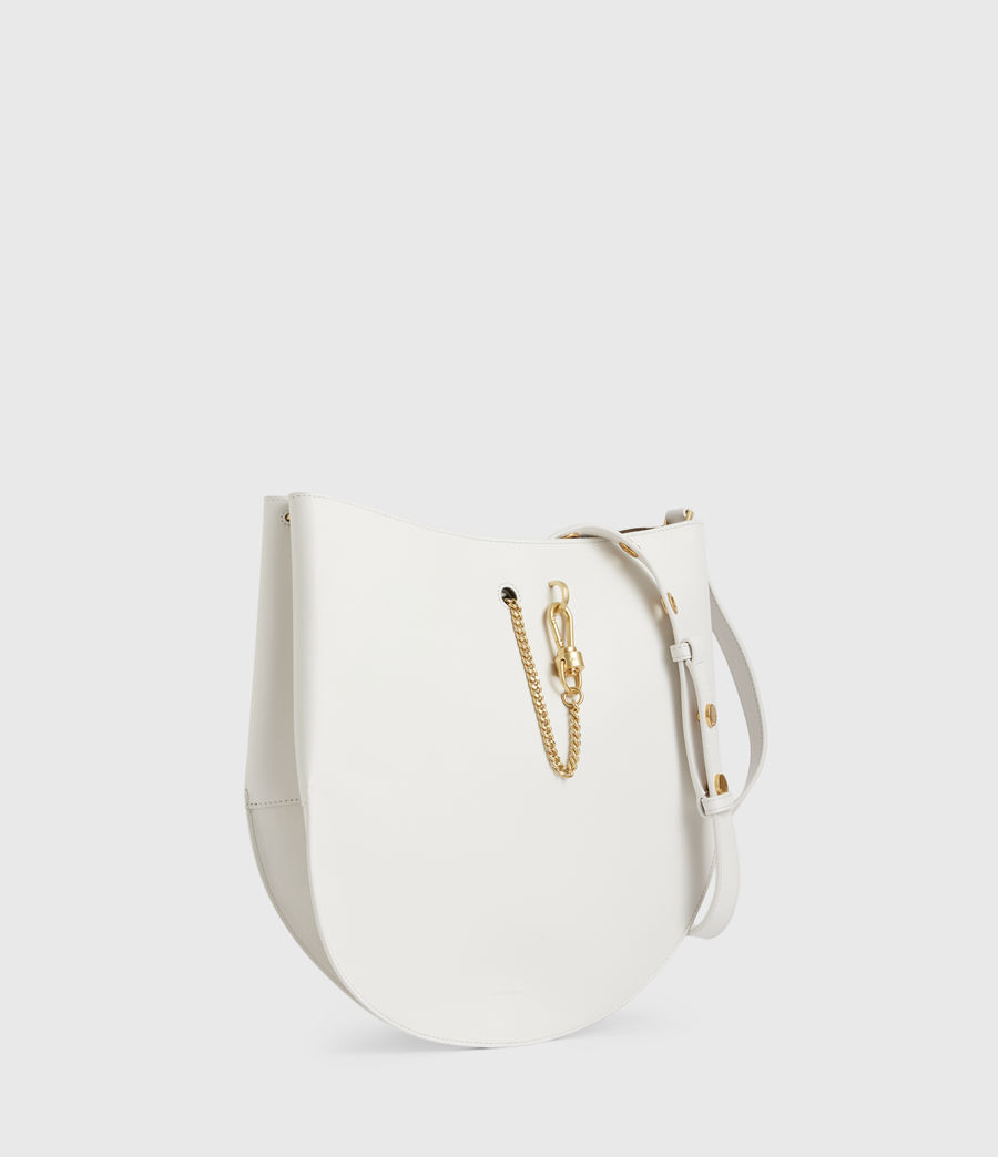 Womens Beaumont Leather Hobo Bag (roe_white) - Image 5