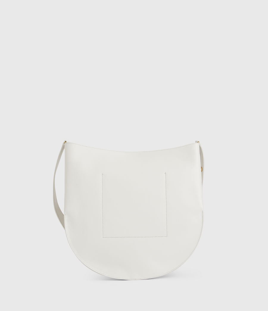 Womens Beaumont Leather Hobo Bag (roe_white) - Image 9