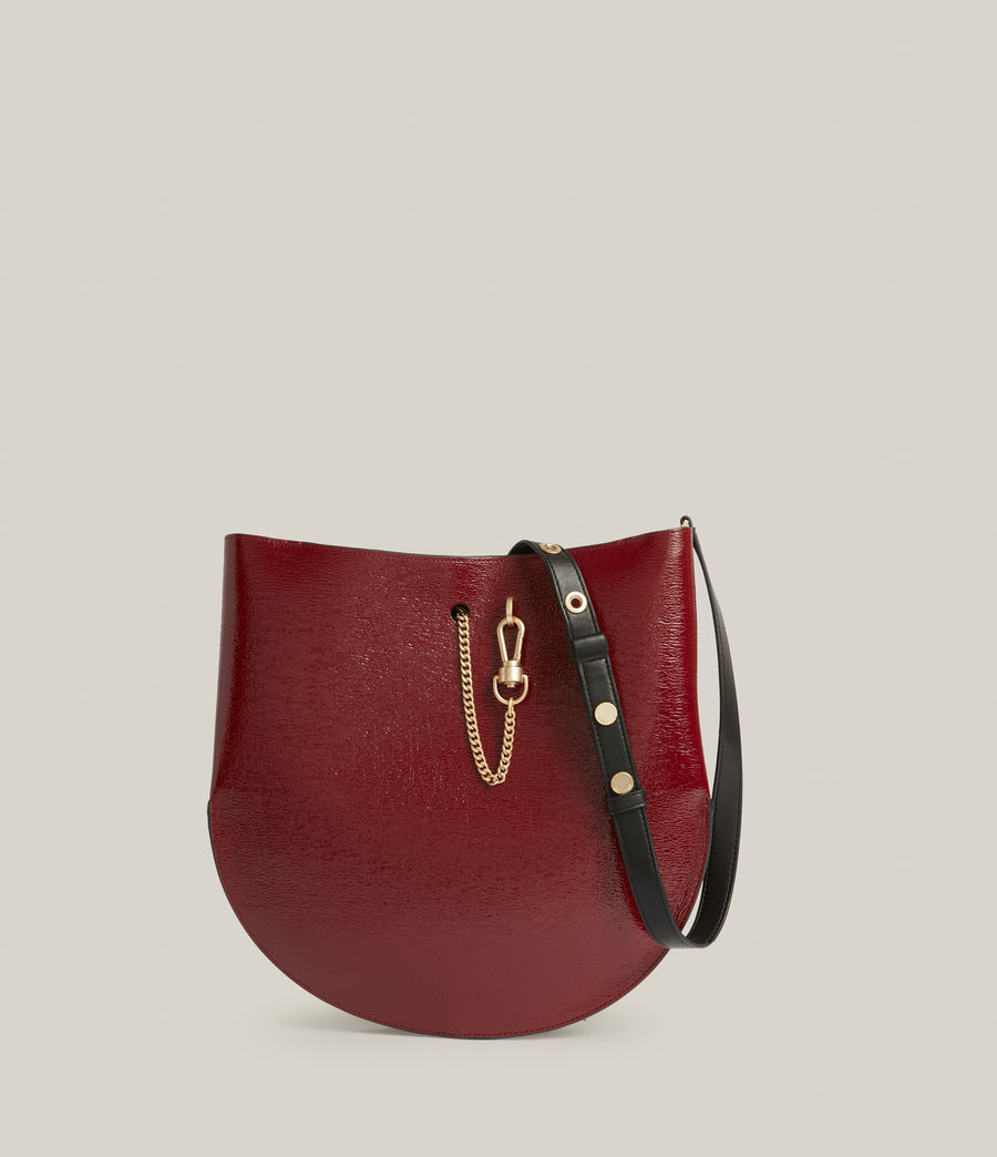Womens Beaumont Leather Hobo Bag (liquid_rouge) - Image 2
