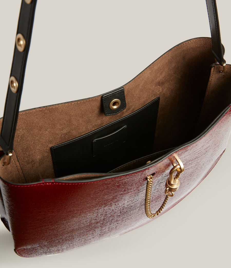 Womens Beaumont Leather Hobo Bag (liquid_rouge) - Image 3