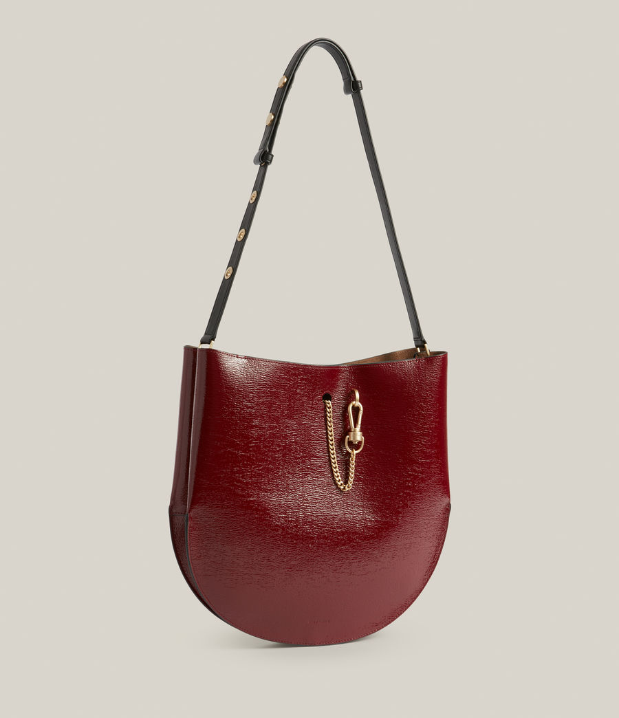 Womens Beaumont Leather Hobo Bag (liquid_rouge) - Image 5
