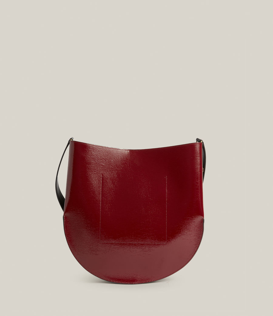 Womens Beaumont Leather Hobo Bag (liquid_rouge) - Image 8