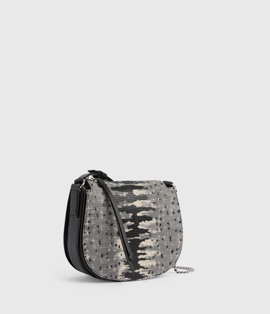 Womens Ely Small Round Leather Crossbody Bag (grey_multi) - Image 3