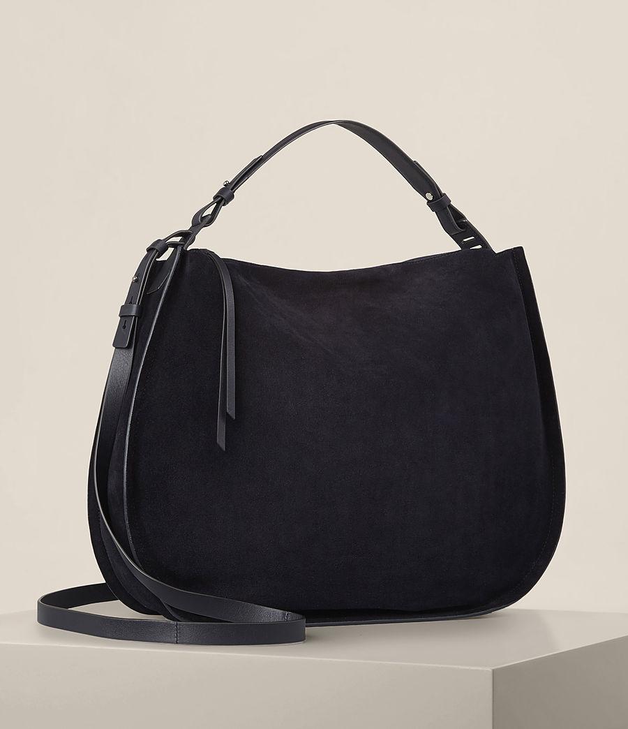 Femmes Grand sac hobo Kanda en cuir velours (dark_blue) - Image 4