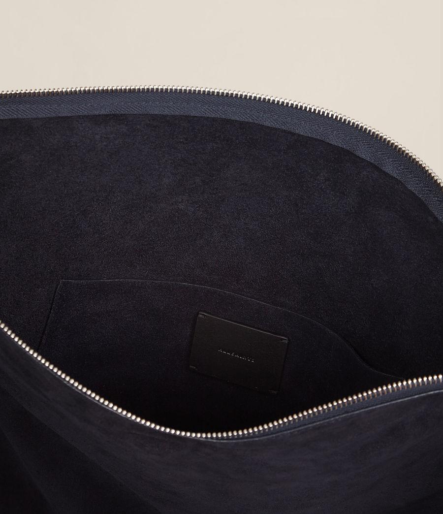 Femmes Grand sac hobo Kanda en cuir velours (dark_blue) - Image 6