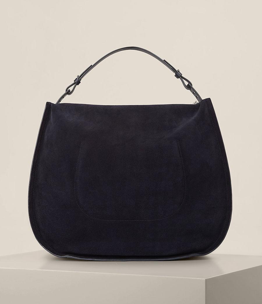 Femmes Grand sac hobo Kanda en cuir velours (dark_blue) - Image 7