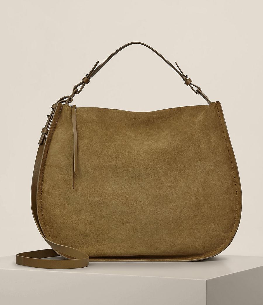 Women S Kanda Large Suede Hobo Bag Mustard Image 1