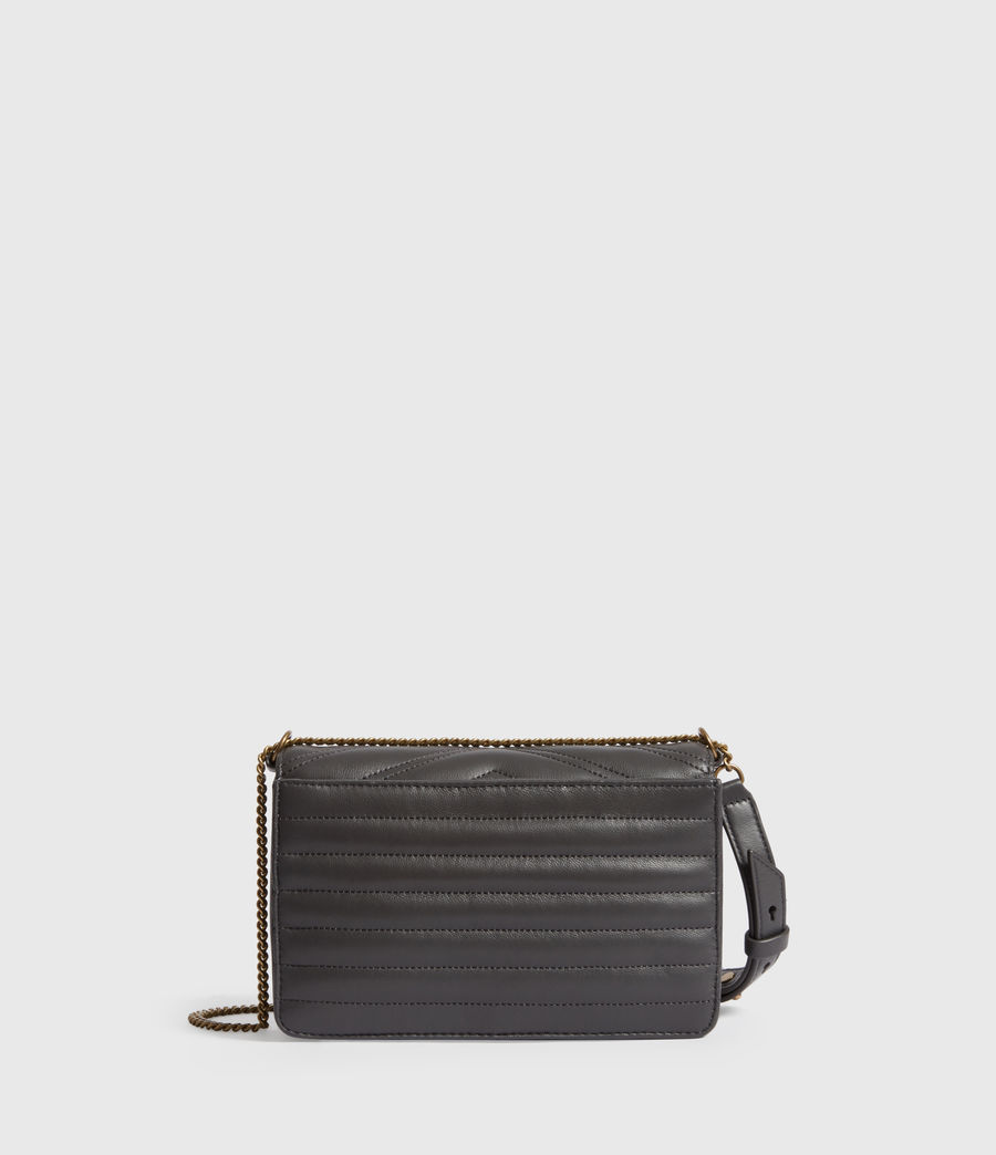 Womens Justine Small Leather Crossbody Bag (graphite_grey) - Image 7