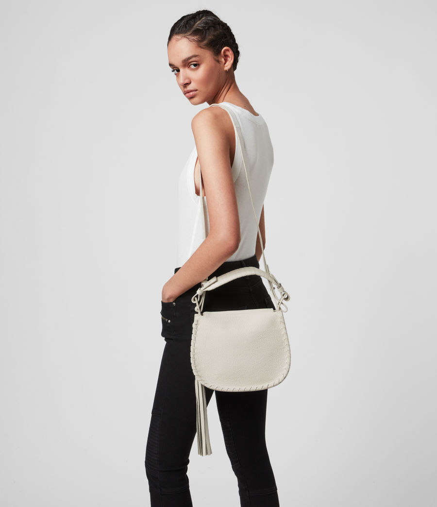 Womens Mori Lea Leather Crossbody Bag (chalk_white) - Image 2