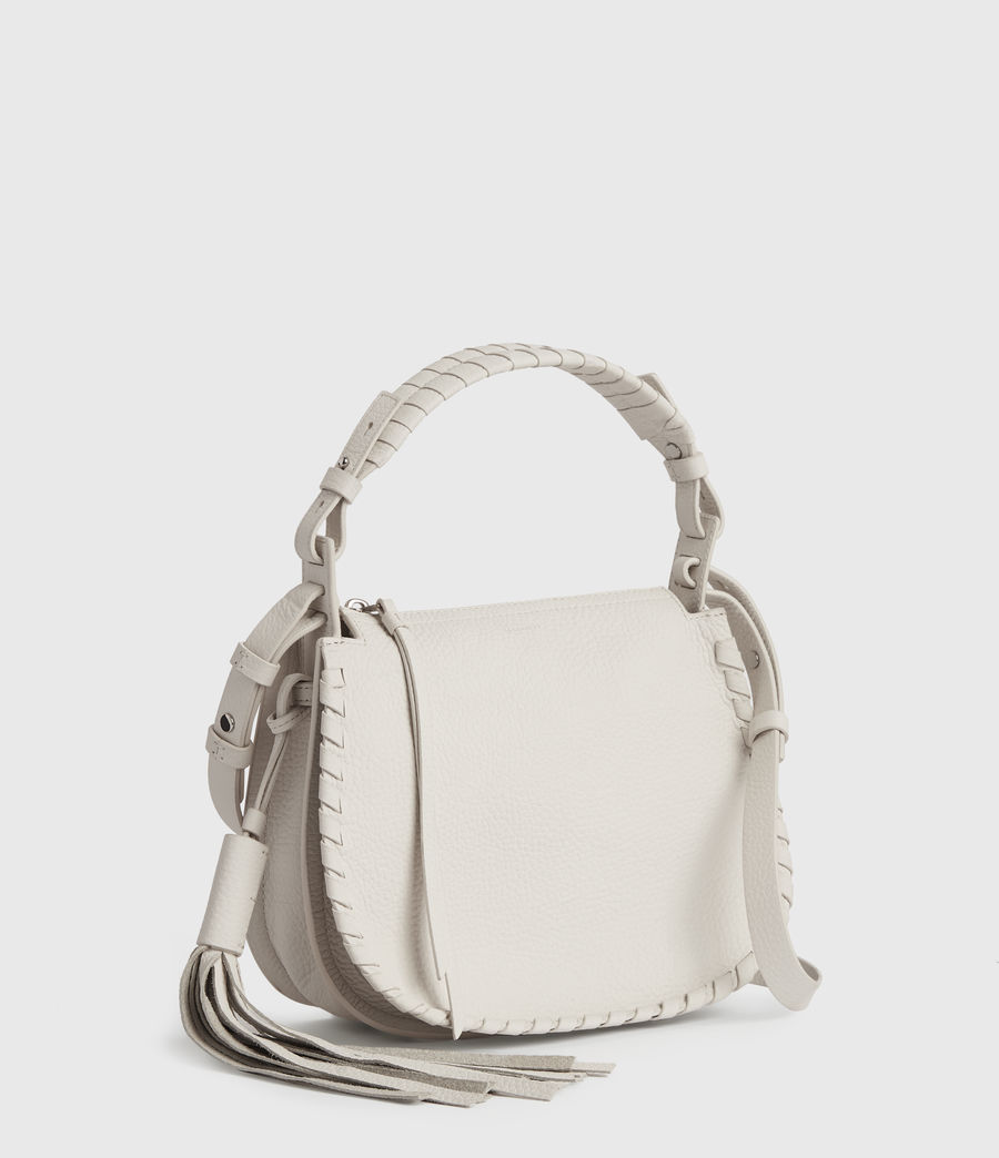 Womens Mori Lea Leather Crossbody Bag (chalk_white) - Image 4