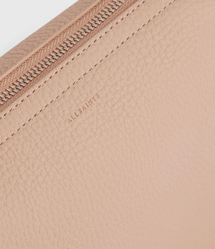 Womens Mori Lea Leather Crossbody Bag (nude_pink) - Image 4