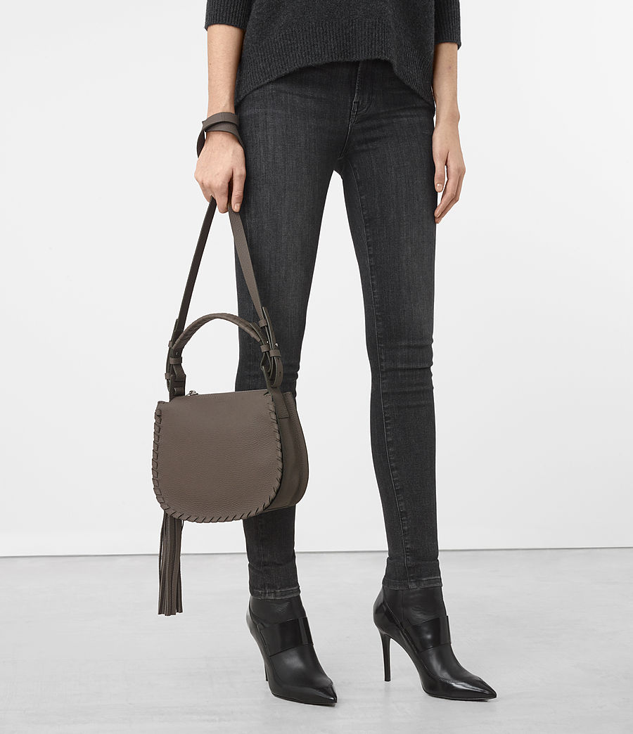 Women's Mori Leather Lea Crossbody Bag (mink_grey) - Image 2