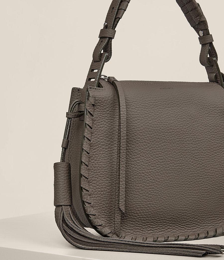 Women's Mori Leather Lea Crossbody Bag (mink_grey) - Image 5