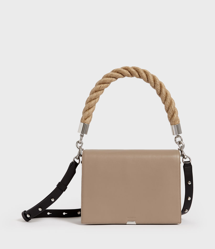 Women's Harri Leather Square Crossbody Bag (dune) - Image 1