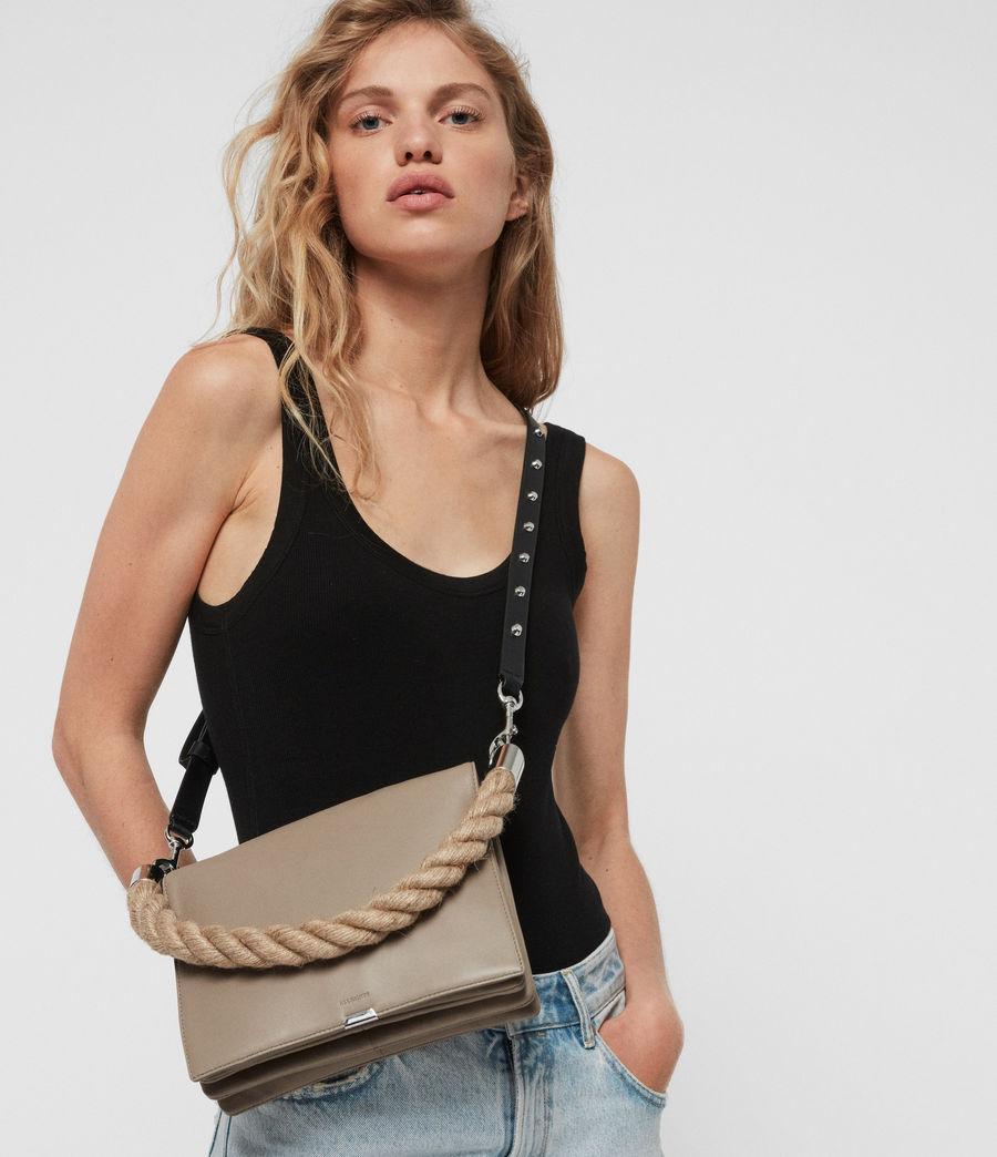 Women's Harri Leather Square Crossbody Bag (dune) - Image 3