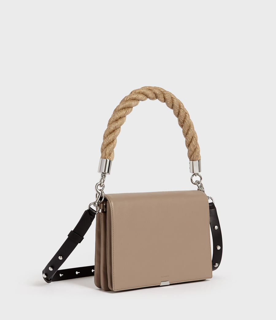 Women's Harri Leather Square Crossbody Bag (dune) - Image 2