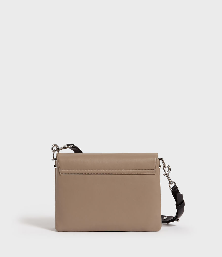 Women's Harri Leather Square Crossbody Bag (dune) - Image 6