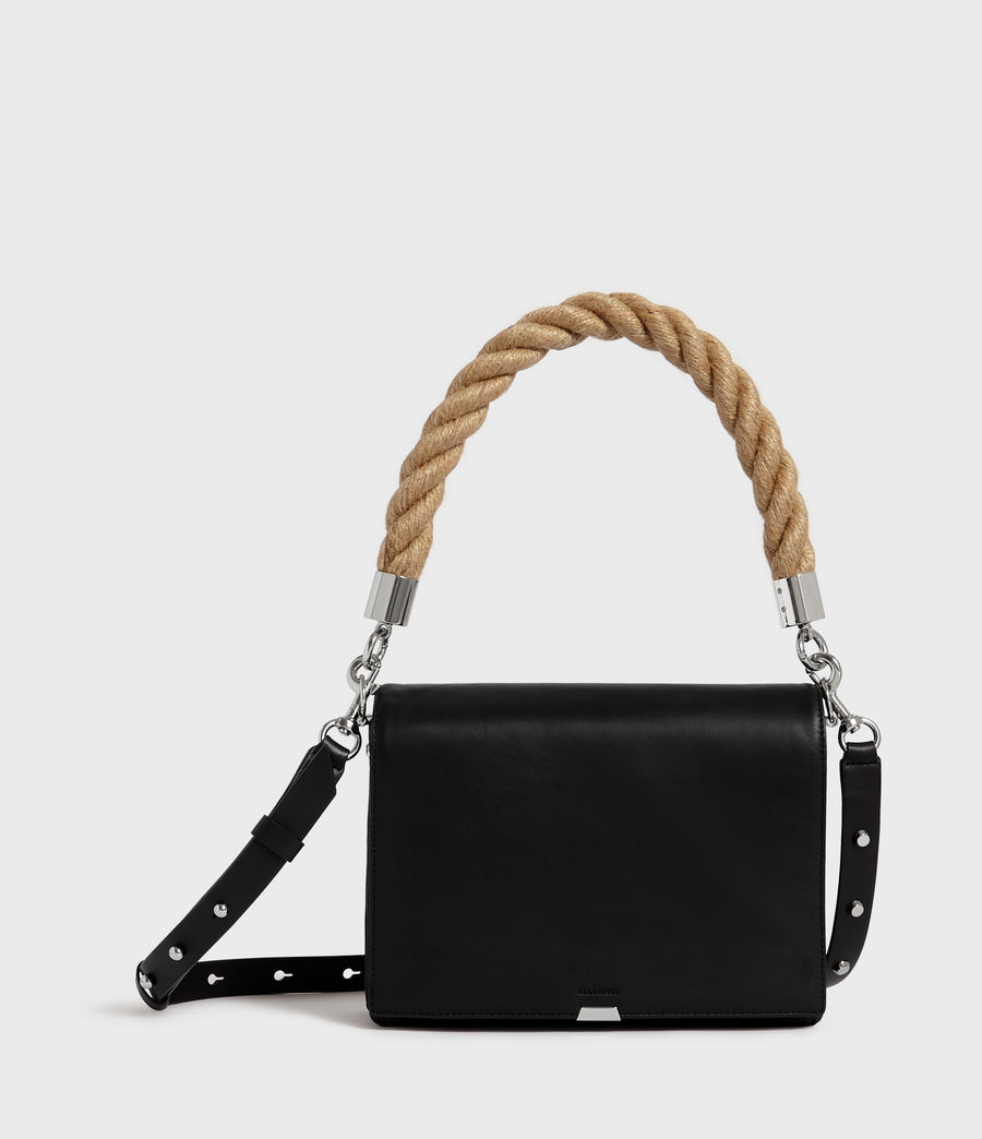 Womens Harri Leather Square Crossbody Bag (black) - Image 1