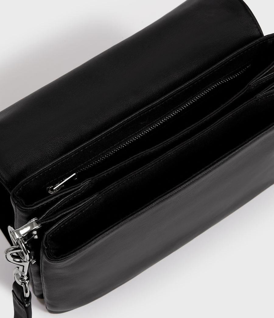 Women's Harri Leather Square Crossbody Bag (black) - Image 4