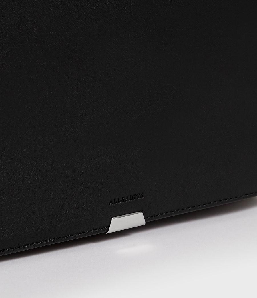 Women's Harri Leather Square Crossbody Bag (black) - Image 6