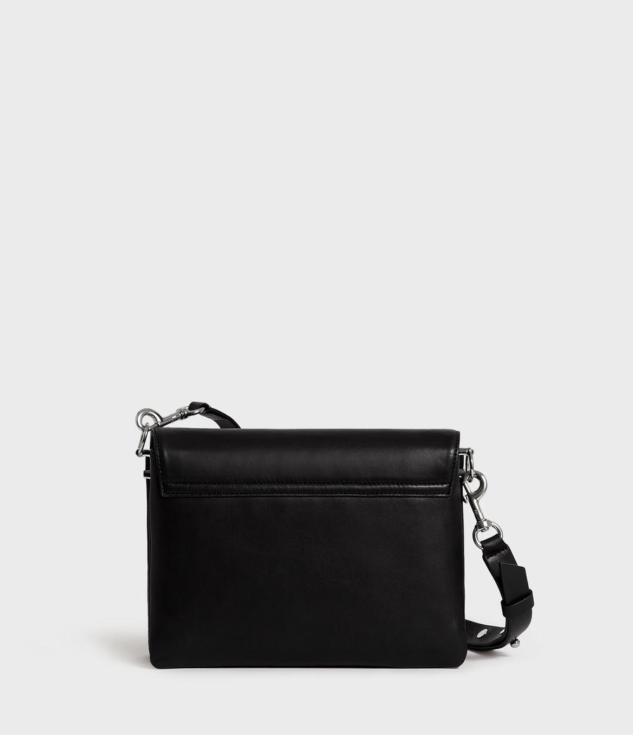 Women's Harri Leather Square Crossbody Bag (black) - Image 7