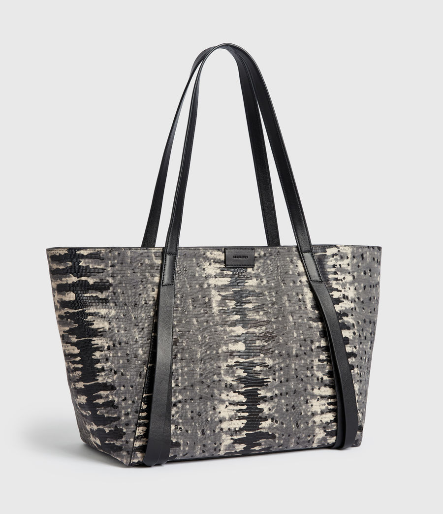 Womens Holston Small East West Leather Tote Bag (grey_multi) - Image 3