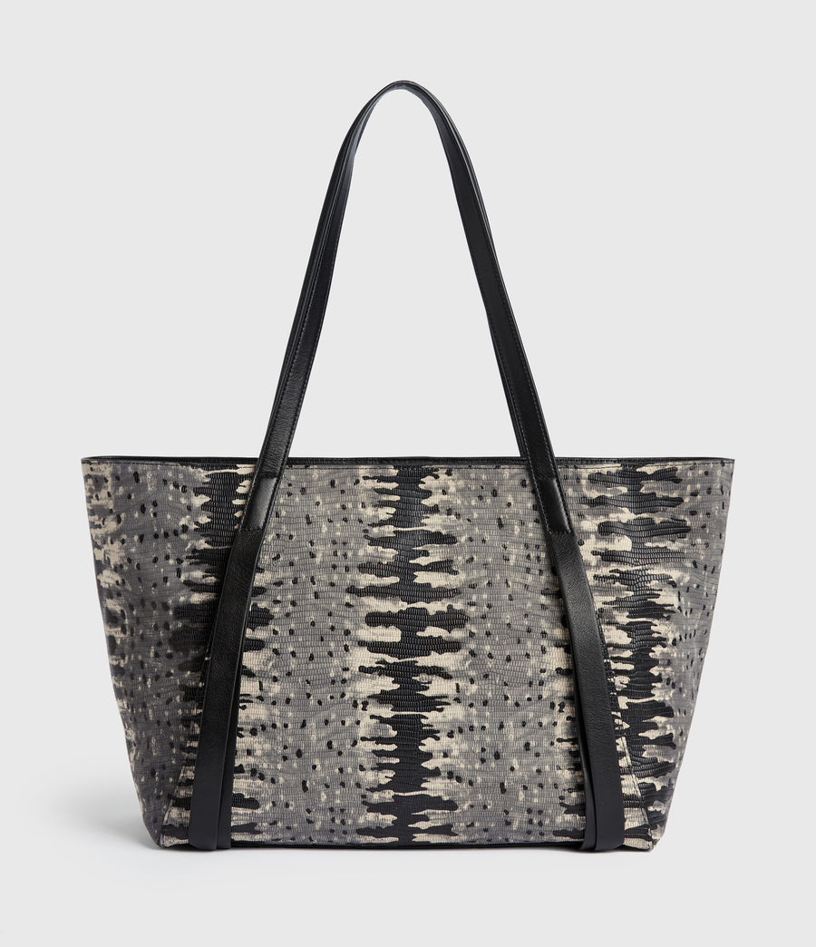 Womens Holston Small East West Leather Tote Bag (grey_multi) - Image 6