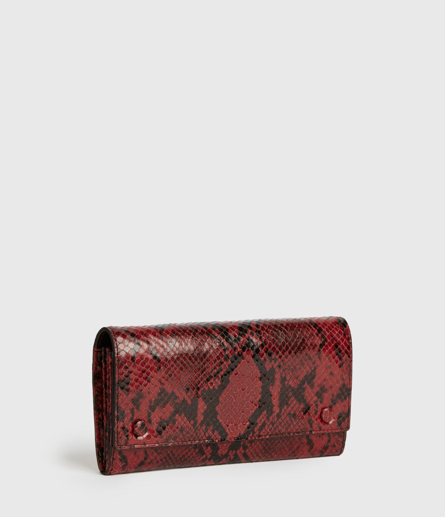 Womens Darlina Chain Leather Wallet (red) - Image 4