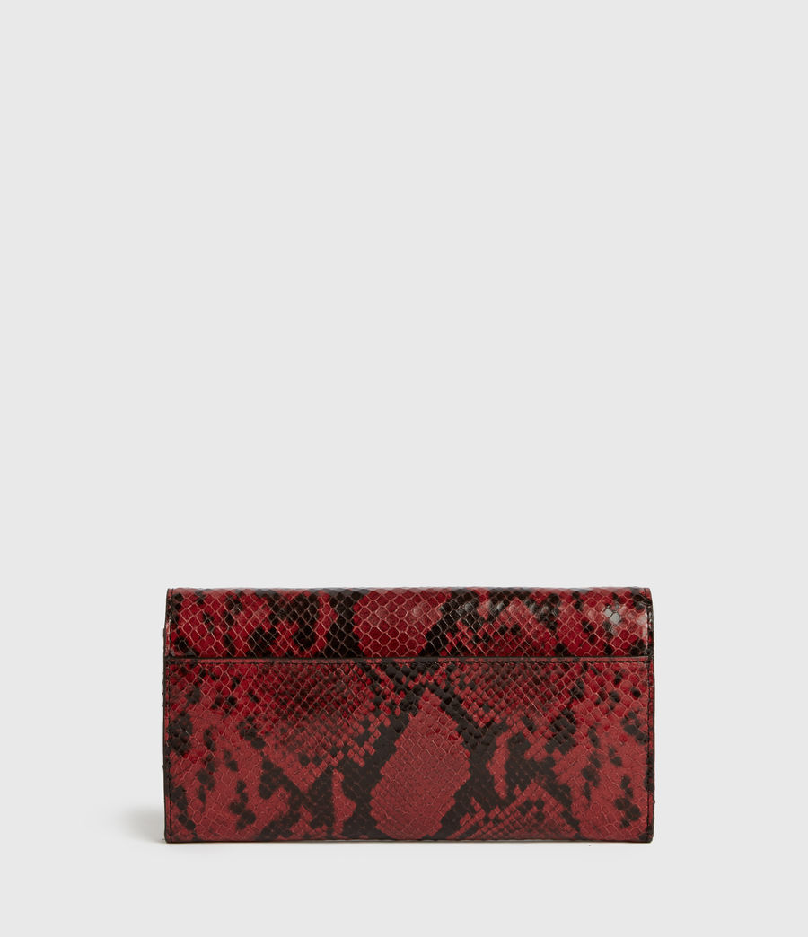 Womens Darlina Chain Leather Wallet (red) - Image 5
