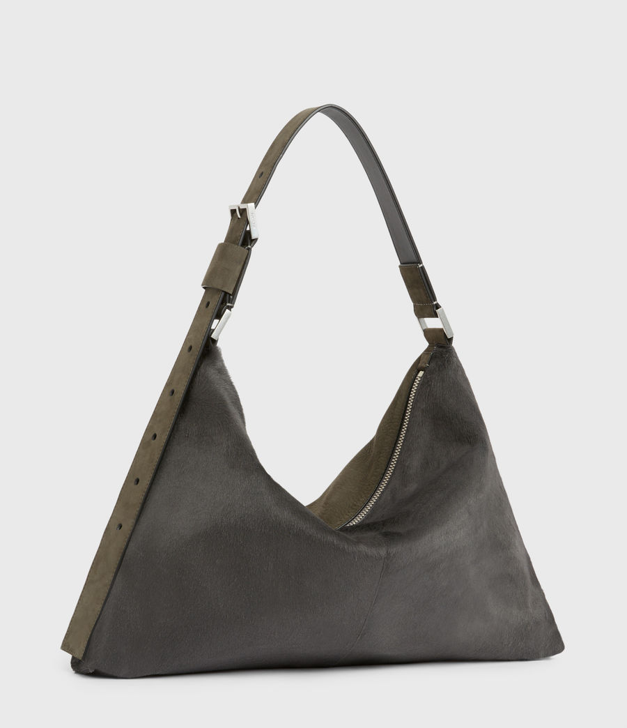 Womens Edbury Leather Shoulder Bag (cinder) - Image 4