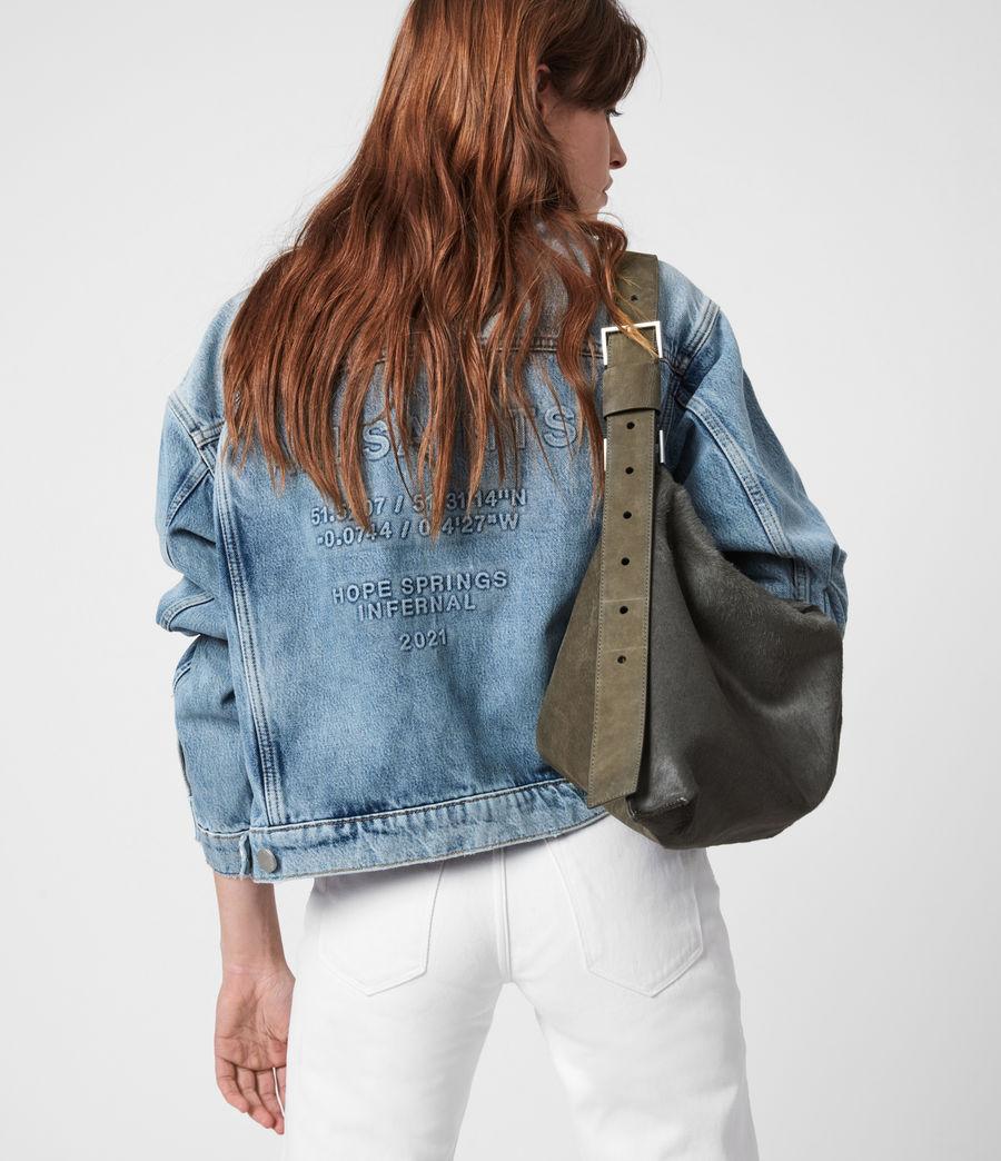 Womens Edbury Leather Shoulder Bag (cinder) - Image 5