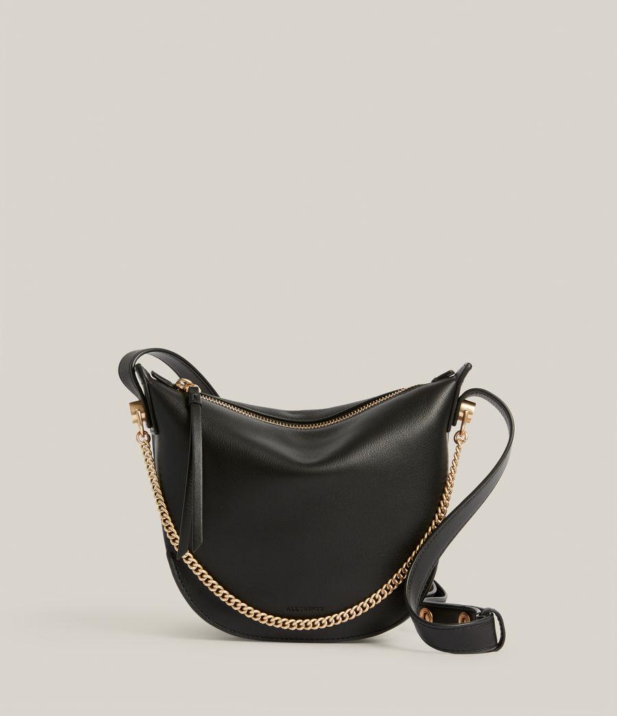 Womens Josephine Leather Crossbody Bag (black) - Image 1