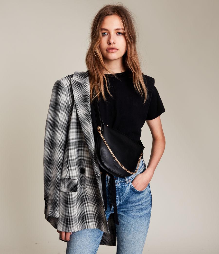 Womens Josephine Leather Crossbody Bag (black) - Image 2
