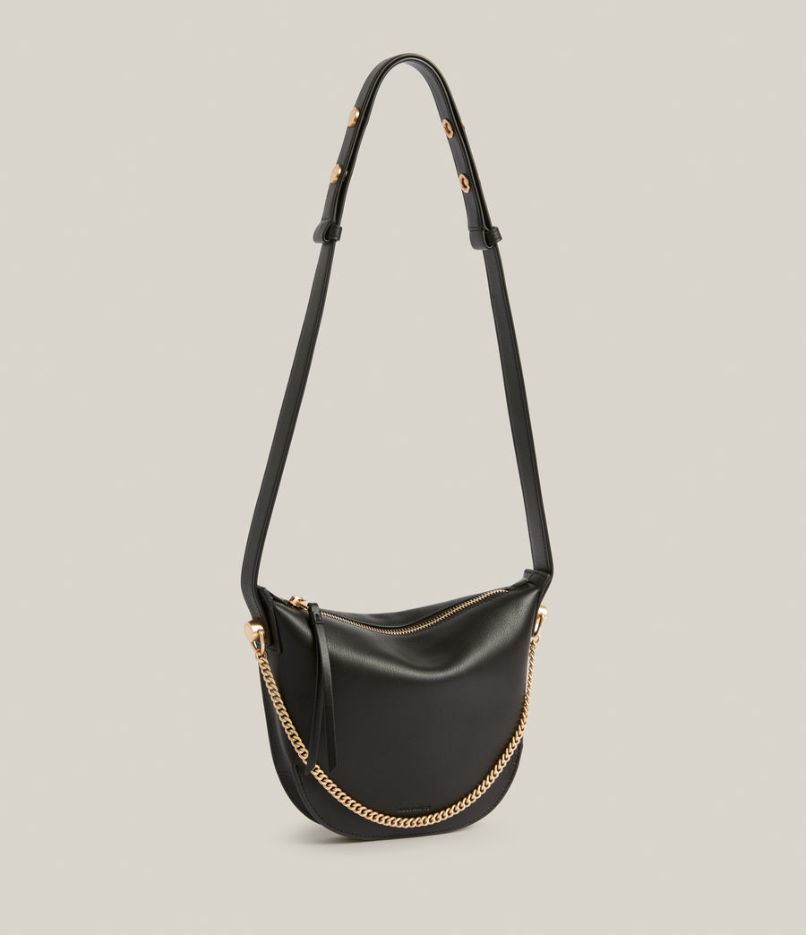 Womens Josephine Leather Crossbody Bag (black) - Image 4