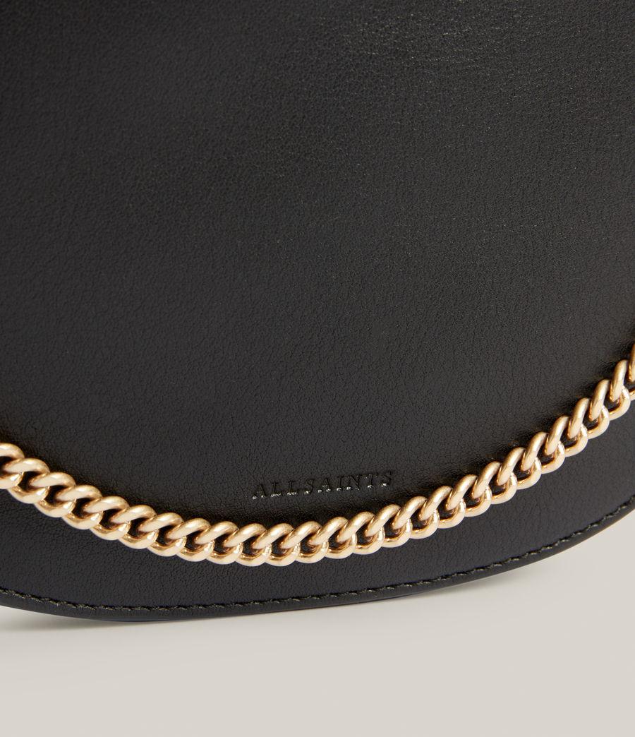 Womens Josephine Leather Crossbody Bag (black) - Image 5