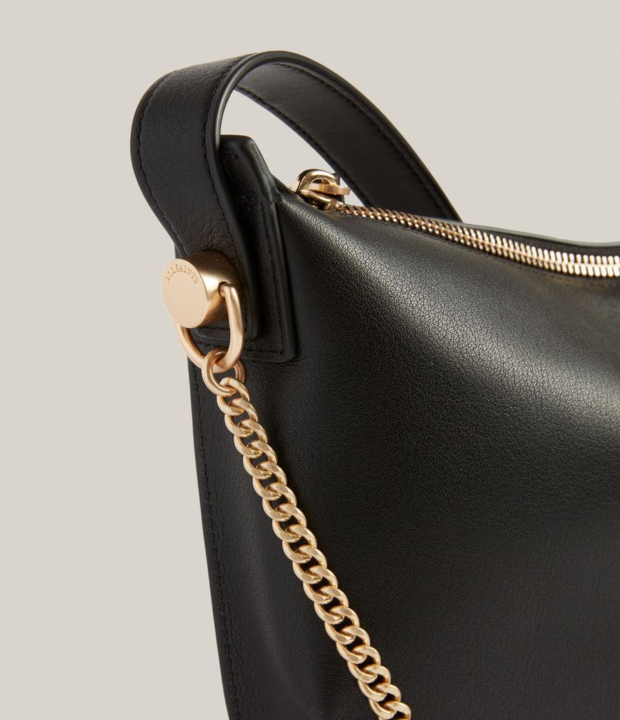 Womens Josephine Leather Crossbody Bag (black) - Image 6