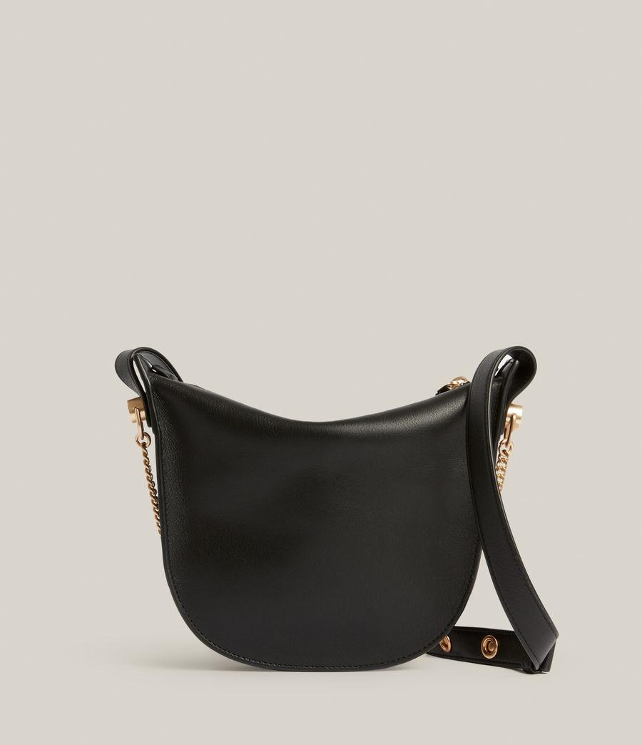 Womens Josephine Leather Crossbody Bag (black) - Image 7