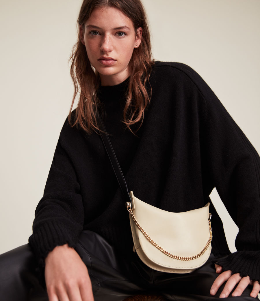 Women's Josephine Leather Crossbody Bag (parchment_white) - Image 1
