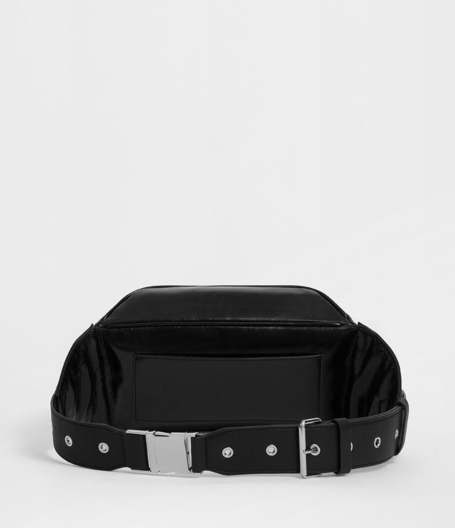 Women's Clip Leather Bumbag (black) - Image 4