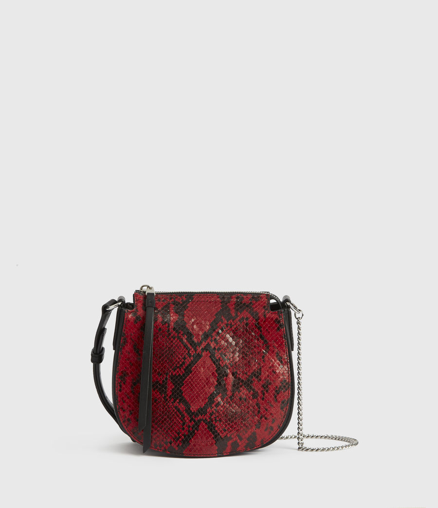 Donne Borsa Ely Rnd (Piccola) - In pelle con stampa pitone (red) - Image 1