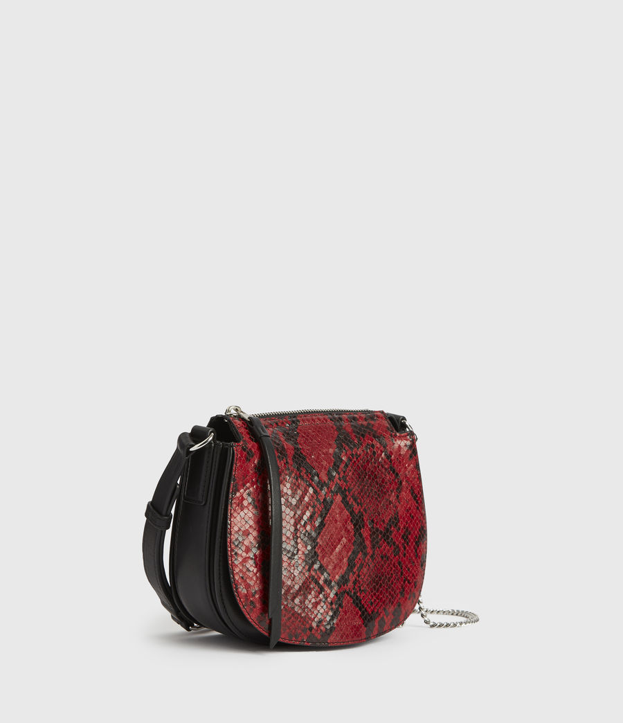 Donne Borsa Ely Rnd (Piccola) - In pelle con stampa pitone (red) - Image 3